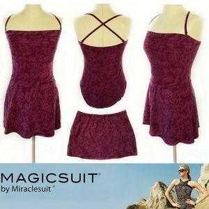 Magicsuit By Miraclesuit One Piece & Skirt Sz 14/L